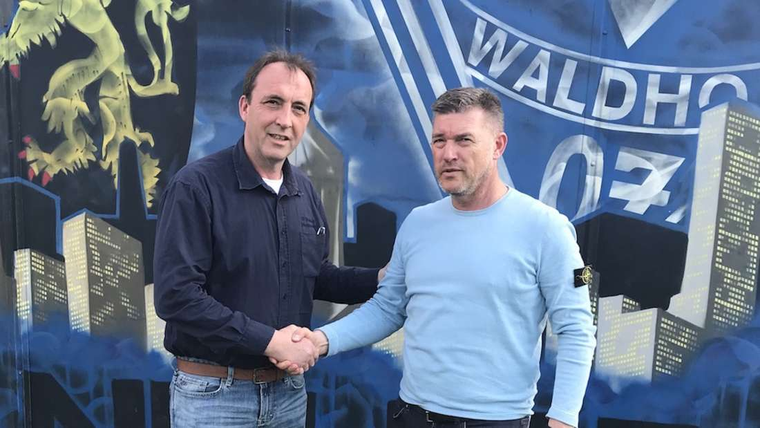 Frank Hettrich (r.) wird Trainer beim SV Waldhof Mannheim II.