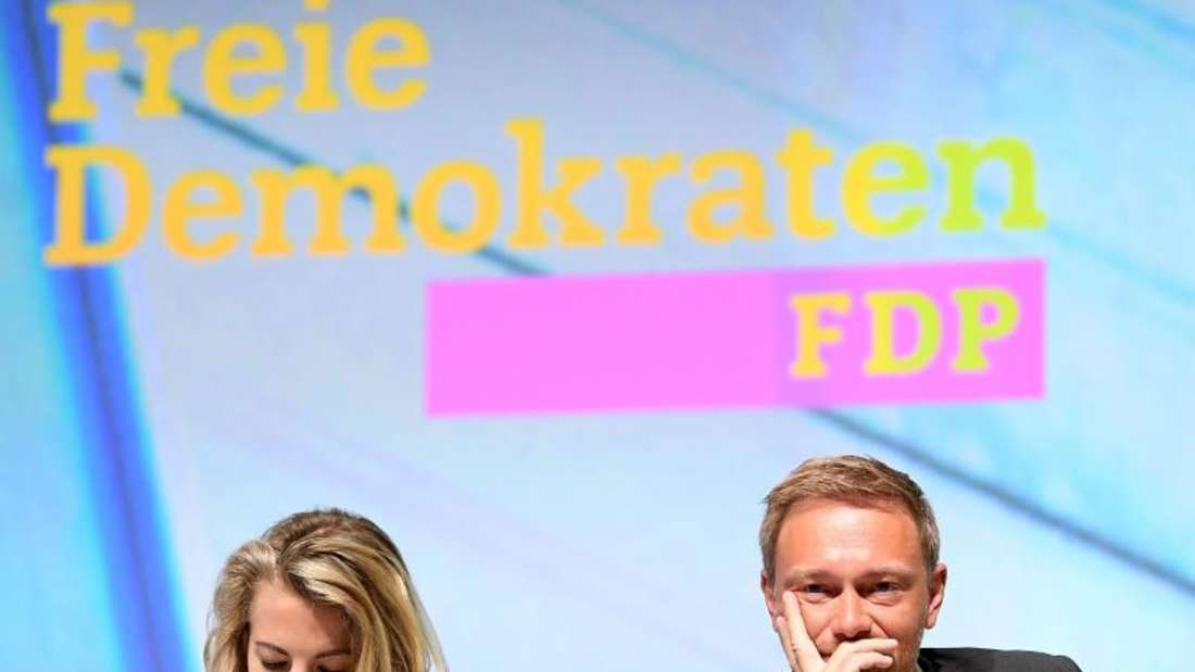 Linda Teuteberg, FDP-Generalsekretärin, und Christian Lindner, Fraktionsvorsitzender und Parteivorsitzender der FDP, in Berlin. Foto: Britta Pedersen