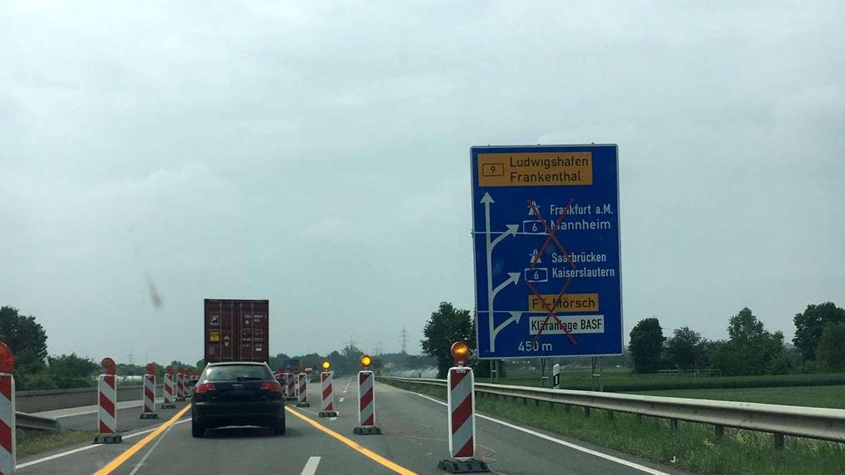 Sperrung A6 Kaiserslautern
