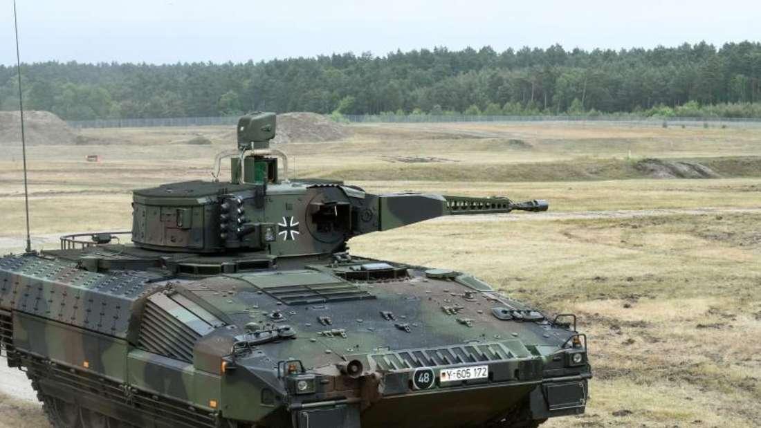 Panzer «Puma»: Die Rüstungsexporte aus Deutschland sind zurückgegangen. Foto: Holger Hollemann