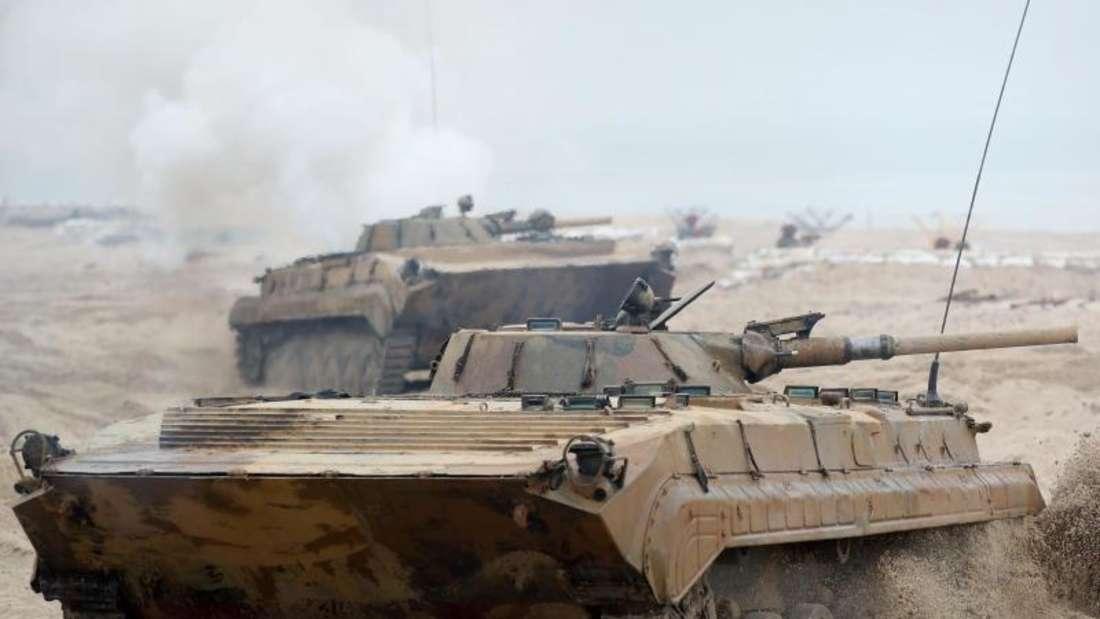 Ein polnischer Panzer beim Nato-Manöver «Baltops». Foto: Kay Nietfeld