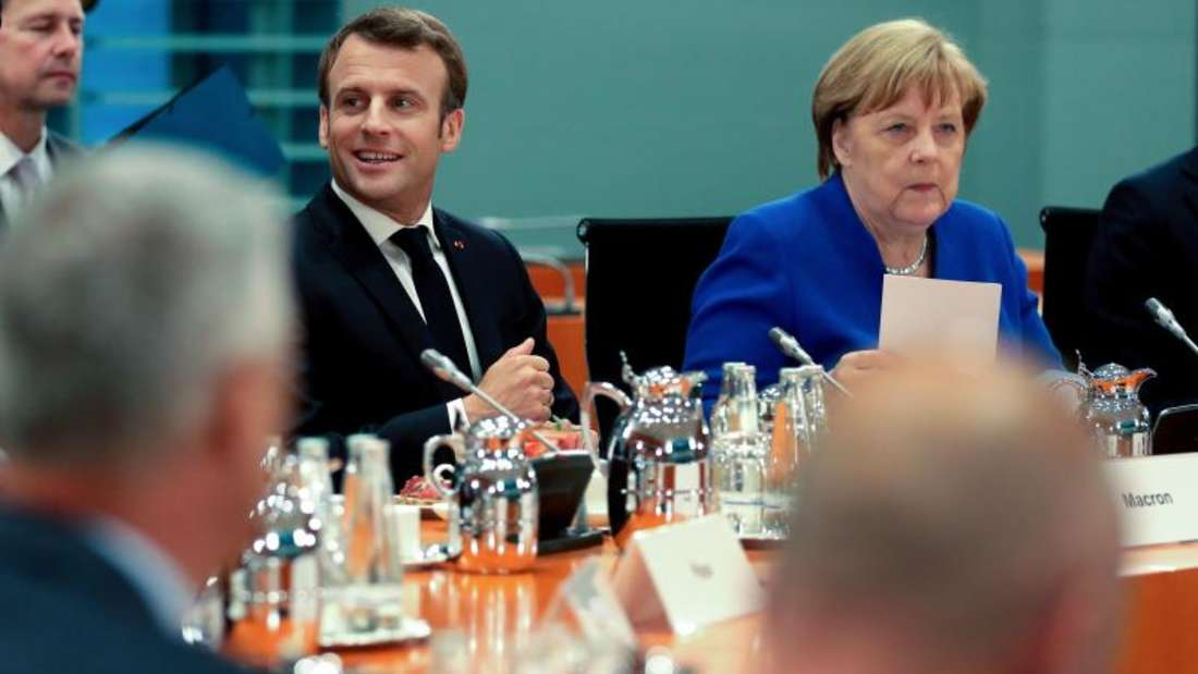 Angela Merkel und Emmanuel Macron haben die Staats- und Regierungschefs von Bosnien-Herzegowina, Kroatien, Kosovo, Montenegro, Serbien und Slowenien ins Kanzleramt nach Berlin eingeladen. Foto: Michael Sohn/AP