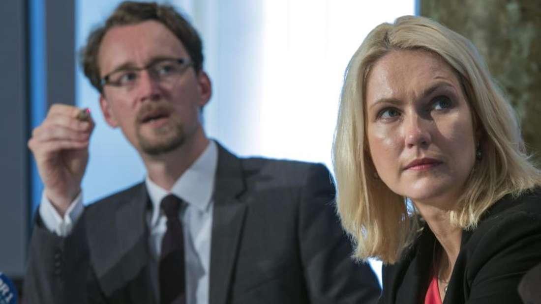Kein Traumpaar:Der Finanzminister von Mecklenburg-Vorpommern, Mathias Brodkorb (SPD), ist zurückgetreten, weil er mit Ministerpräsidentin Manuela Schwesig (SPD) nicht zurechtkommt. Foto:Jens Büttner