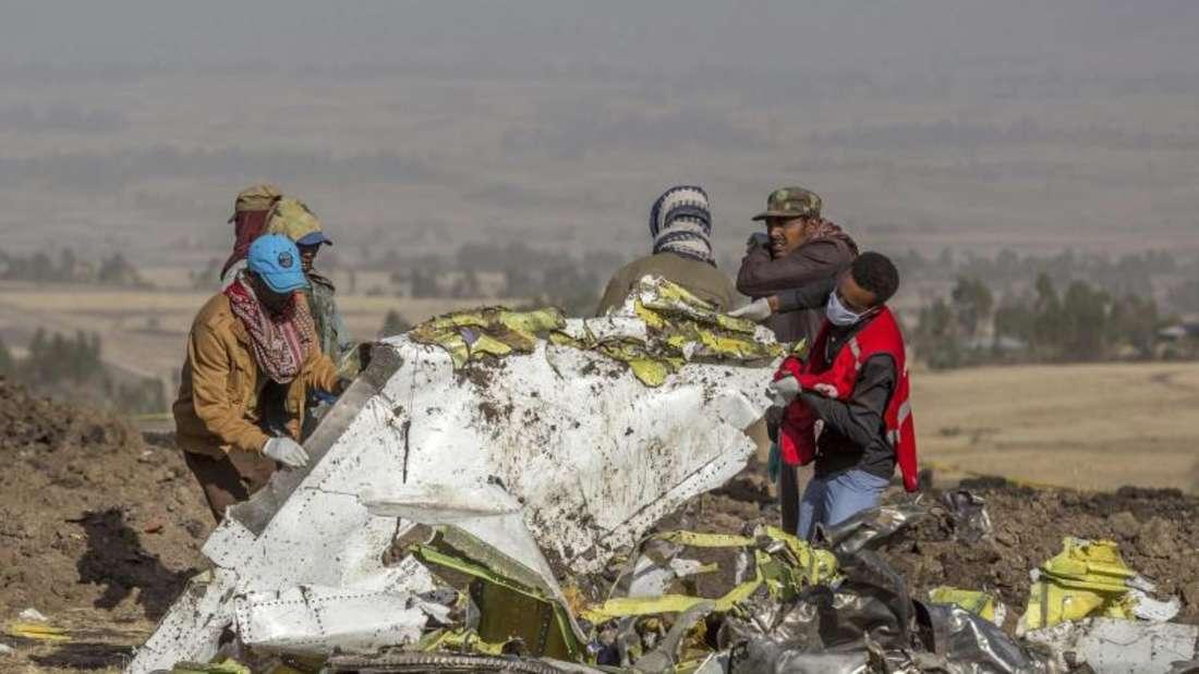 Beim Absturz nahe der äthiopischen Hauptstadt starben 157 Menschen. Foto: Mulugeta Ayene/AP