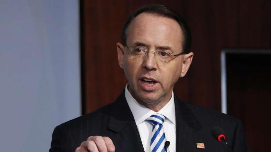 Rod Rosenstein, US-Vize-Justizminister, der eine wichtige Rolle bei der Russland-Untersuchung gespielt hat, verlässt seinen Posten.