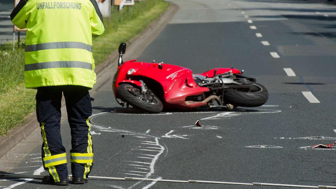 Schwerer Motorrad-Unfall in Mannheim (Symbolfoto)