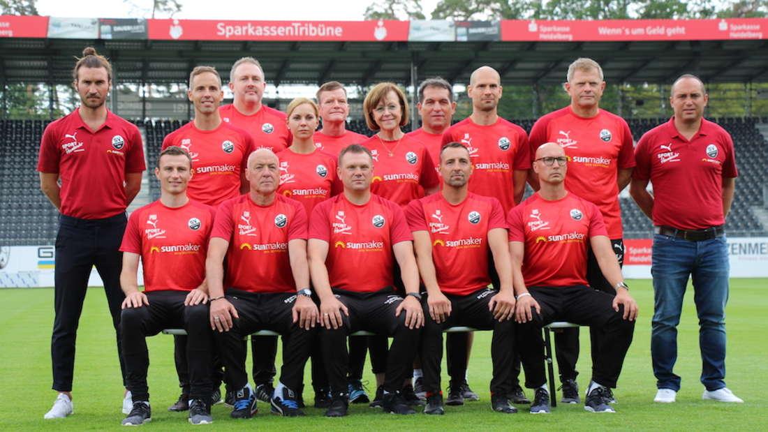 Der Betreuerstab des SV Sandhausen.