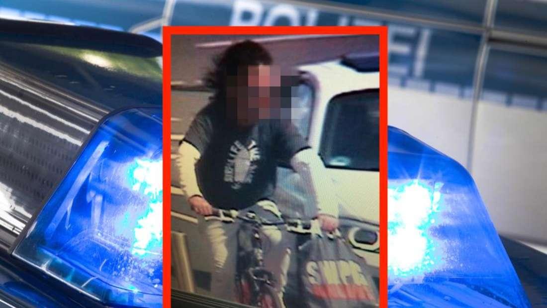 Mit dem Bild einer Überwachungskamera sucht die Polizei Worms nach dem flüchtigen Täter.