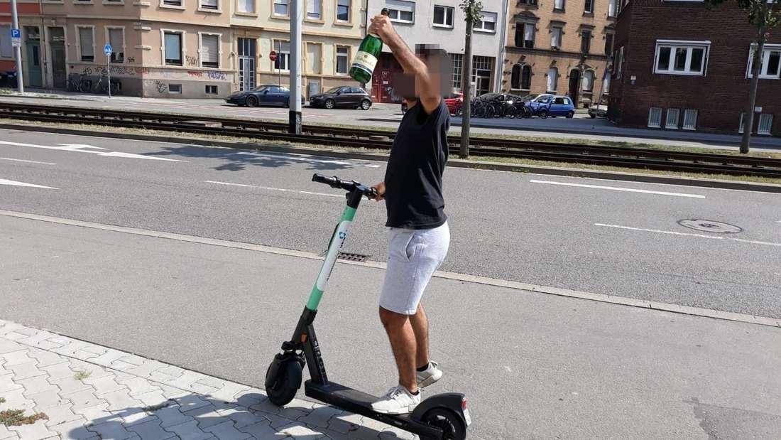 Mehr als 200 E-Scooter-Fahrer halten sich nicht an die Verkehrsregeln!