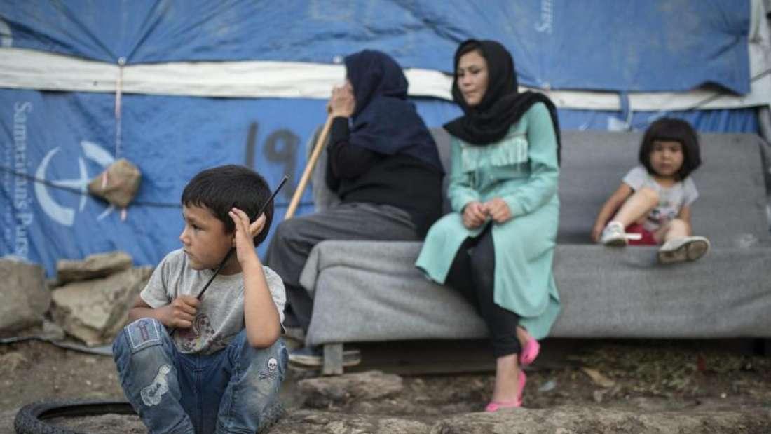 Flüchtlingslager Moria: Die Situation in den überfüllten Registrierlagern auf den griechischen Inseln ist dramatisch. Foto: Socrates Baltagiannis