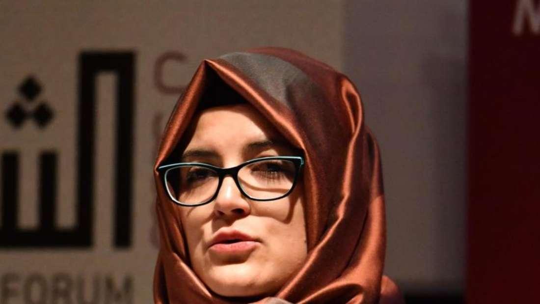 Hatice Cengiz, die Verlobte von Jamal Khashoggi, erwartet von der Weltgemeinschaft «eine entschiedene Verurteilung Saudi-Arabiens», wie sie erst kürzlich in einem «Welt»-Interview verriet. Foto: John Stillwell/PA/Archiv