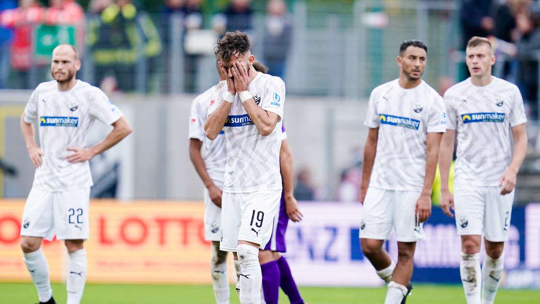 Der SV Sandhausen muss sich gegen Erzgebirge Aue mit einem 2:2 zufriedengeben.
