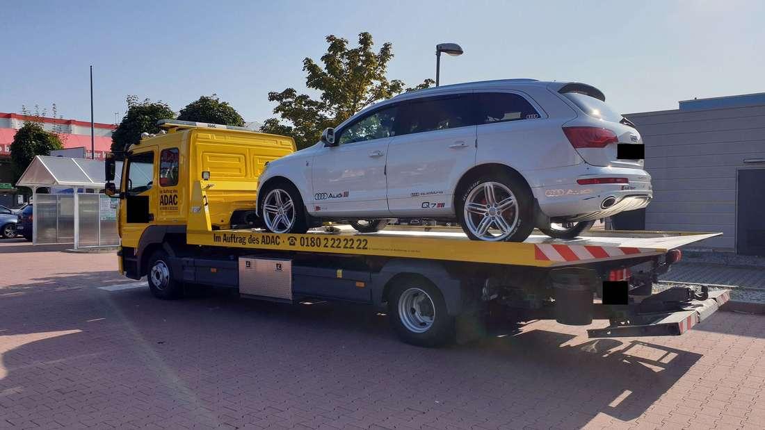 Seinen Audi ist der uneinsichtige Autofahrer jetzt los!