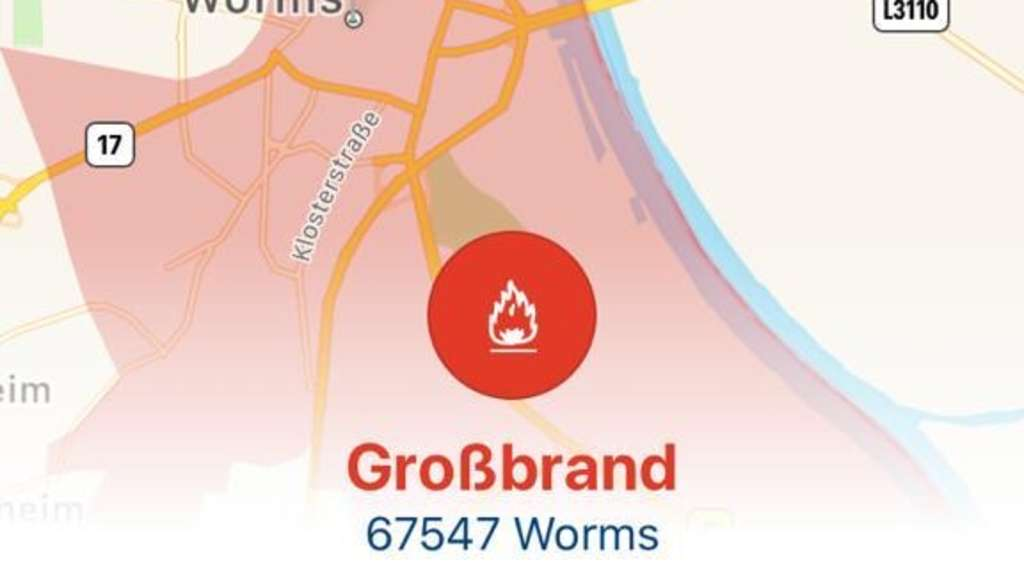 Großbrand in Worms