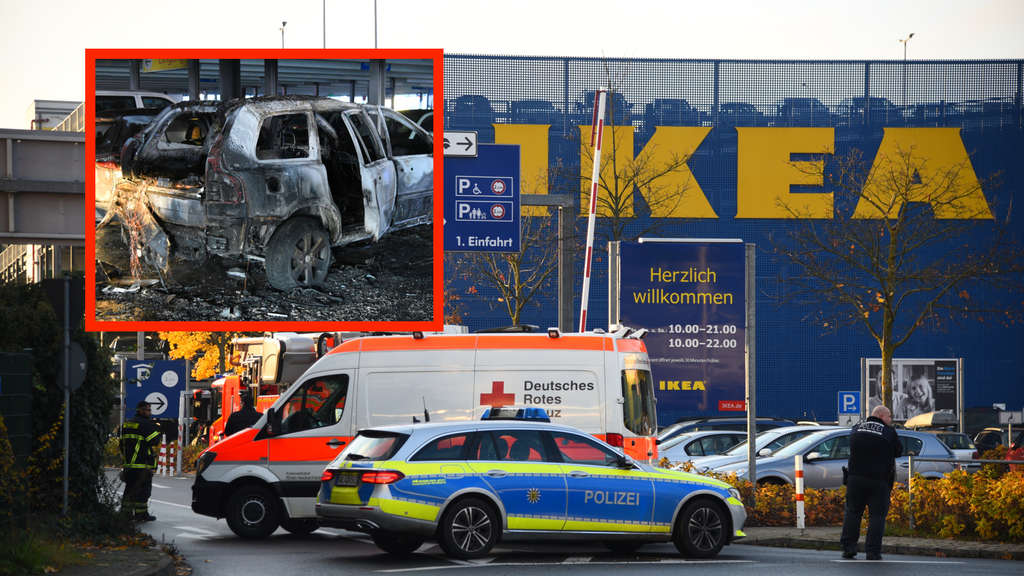 Brand in IKEA-Parkhaus in Walldorf