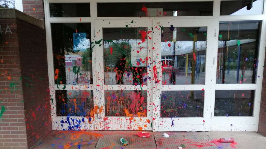 Vandalismus an Schule in Worms