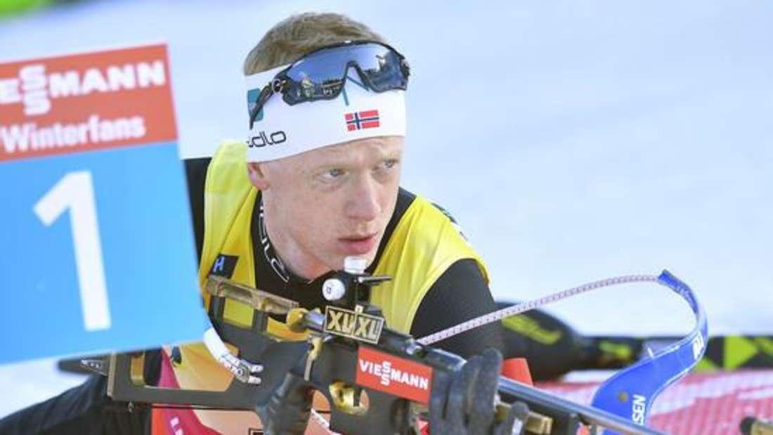 Biathlon: Johannes Thingnes Boe aus Norwegen holte den Gesamtweltcup in der Saison 2019/20.