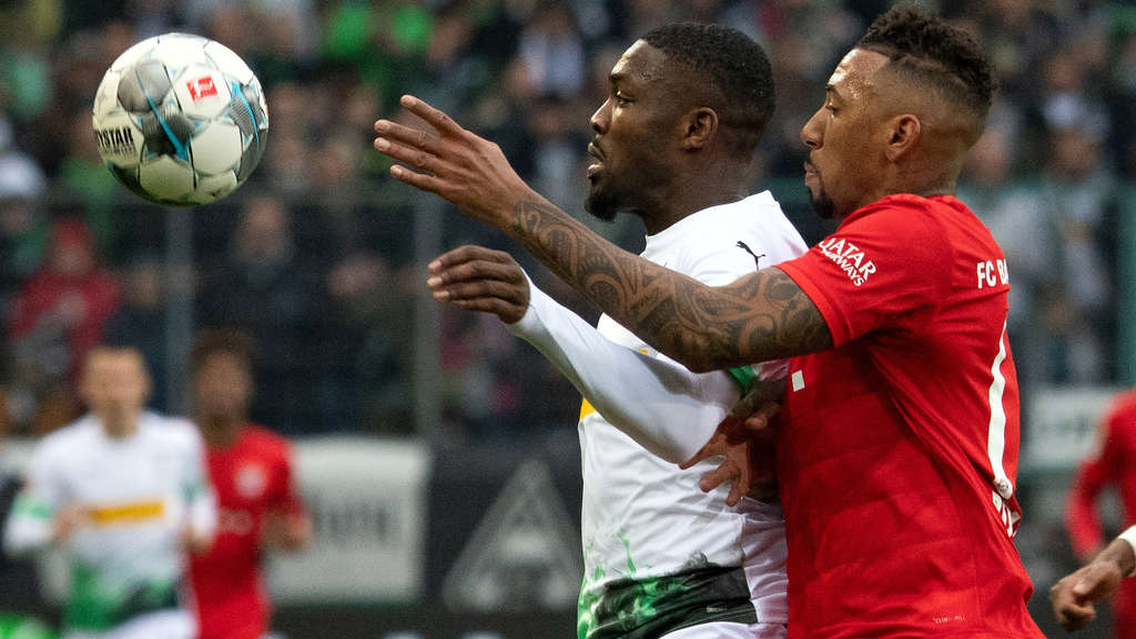 Eng am Mann: Jerome Boateng (re.) gegen Marcus Thuram.