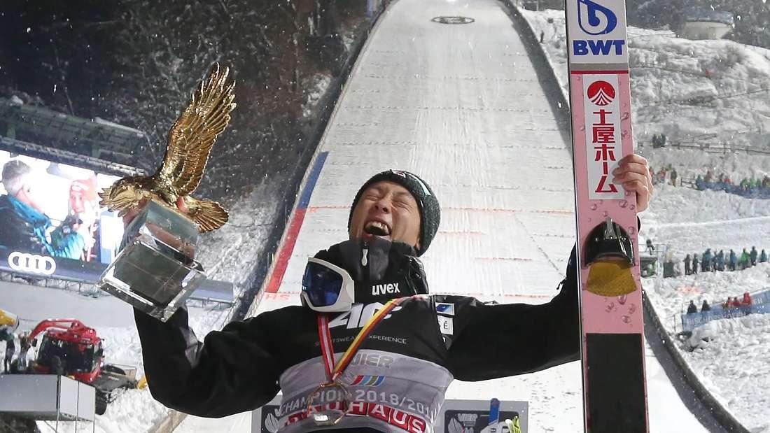 Vierschanzentournee: Ryoyu Kobayashi bejubelt in Bischofshofen seinen Gesamtsieg