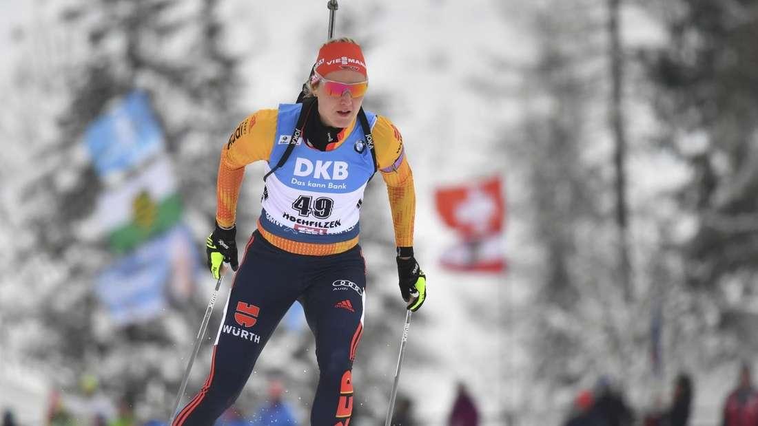 Biathlon: Denise Herrmann aus Deutschland.