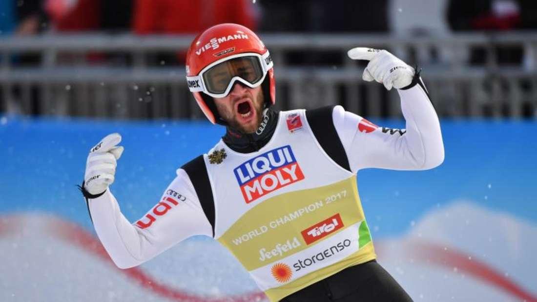 Überflieger: Skispringer Markus Eisenbichler hatte den besten Winter seiner Karriere. Foto: Hendrik Schmidt/zb/dpa