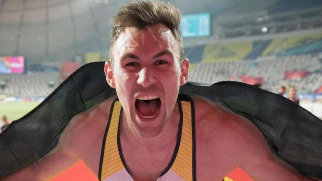 Goldjunge: Niklas Kaul gewann bei der Leichtathletik-WM in Katar Gold im Zehnkampf. Foto: Michael Kappeler/dpa