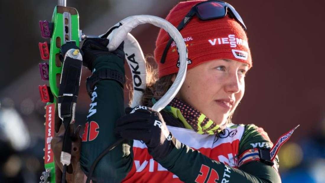 Laura Dahlmeier geht mit Erik Lesser beim Biathlon-Event auf Schalke an den Start. Foto: Sven Hoppe/dpa