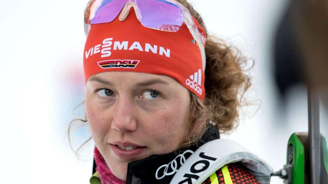 Biathlon: Laura Dahlmeier geht bei der World Team Challenge auf Schalke an den Start.