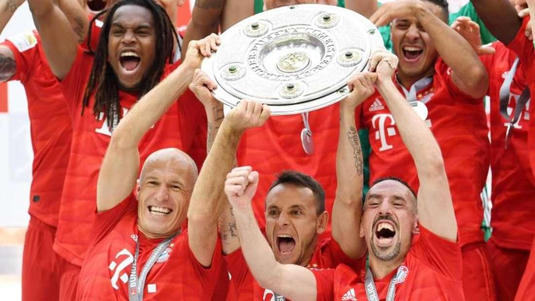 Der FC Bayern gewann zum 29. Mal die deutsche Meisterschaft. Foto: Tobias Hase/dpa
