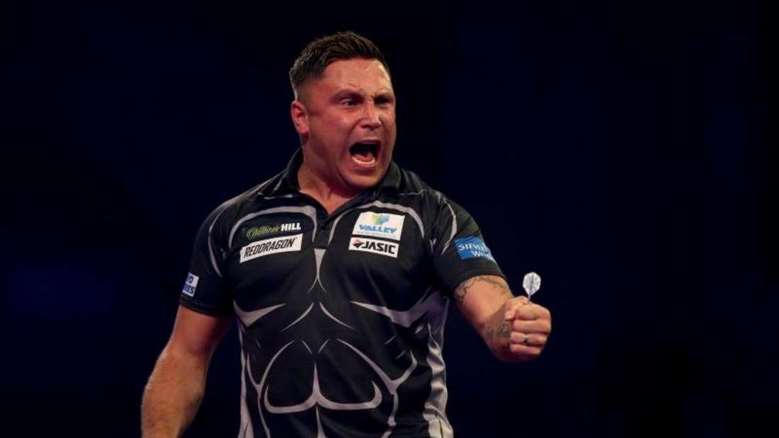 Gerwyn Price hat sich bei der Darts-WM ins Viertelfinale gespielt. Foto: Steven Paston/PA Wire/dpa