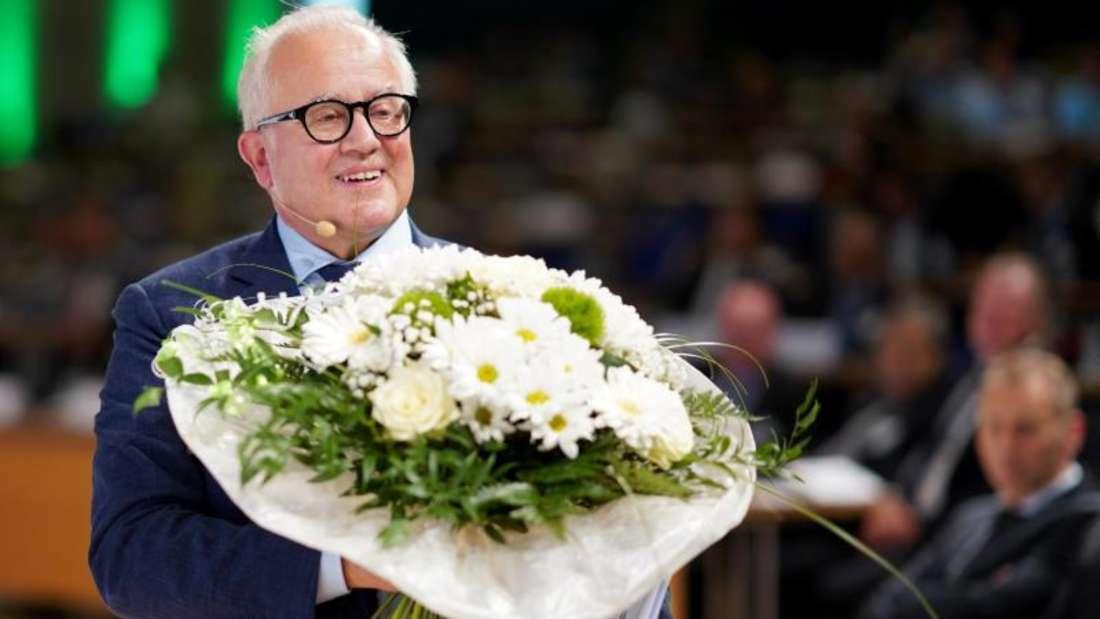 Fritz Keller wurde zum neuen Präsidenten des Deutschen Fußball-Bundes (DFB) gewählt. Foto: Simon Hofmann/Getty Images Europe/DFB/dpa
