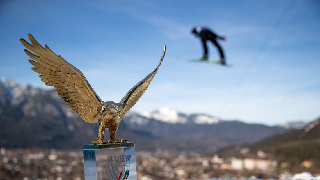 Qualifikation Garmisch: Der goldene Adler ist in Garmisch-Partenkirchen angekommen.