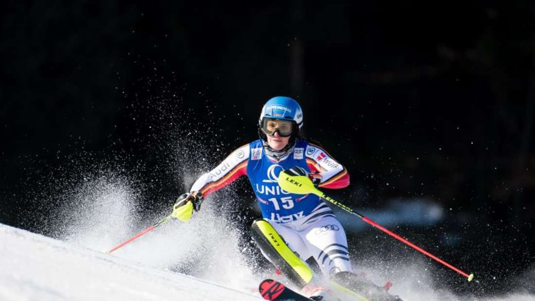 Christina Ackermann fuhr beim Slalom in Lienz auf den fünften Platz. Foto: Expa/Michael Gruber/APA/dpa