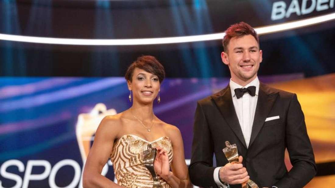 Bei der Gala im Dezember in Baden-Baden wurden Mihambo und Kaul dann auch als Sportler des Jahres ausgezeichnet. Foto: Patrick Seeger/dpa