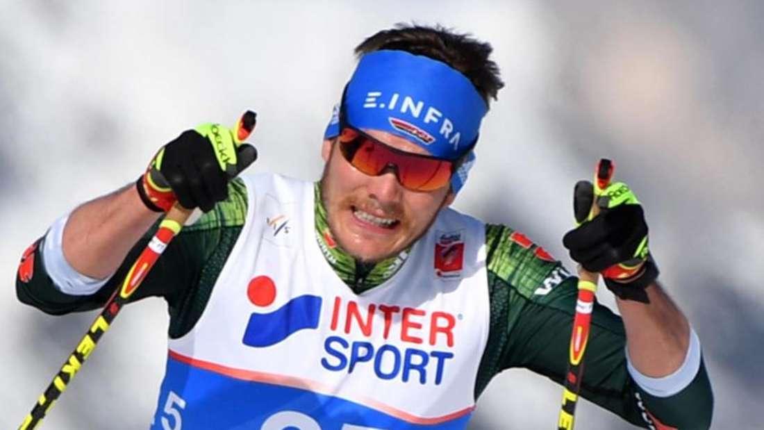 Skilangläufer Lucas Bögl erreichte über 15 Kilometer im freien Stil den neunten Rang. Foto: Hendrik Schmidt/zb/dpa