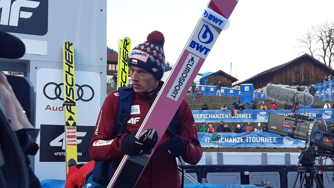 Qualifikation in Bischofshofen: Den Schanzenrekord in Bischofshofen hat Dawid Kubacki schon, jetzt will er sich hier auch den Tournee-Sieg holen.