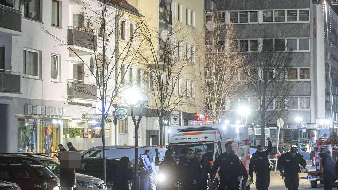 Schießerei in Hanau: Spurensicherung untersucht Tatort und Straßen