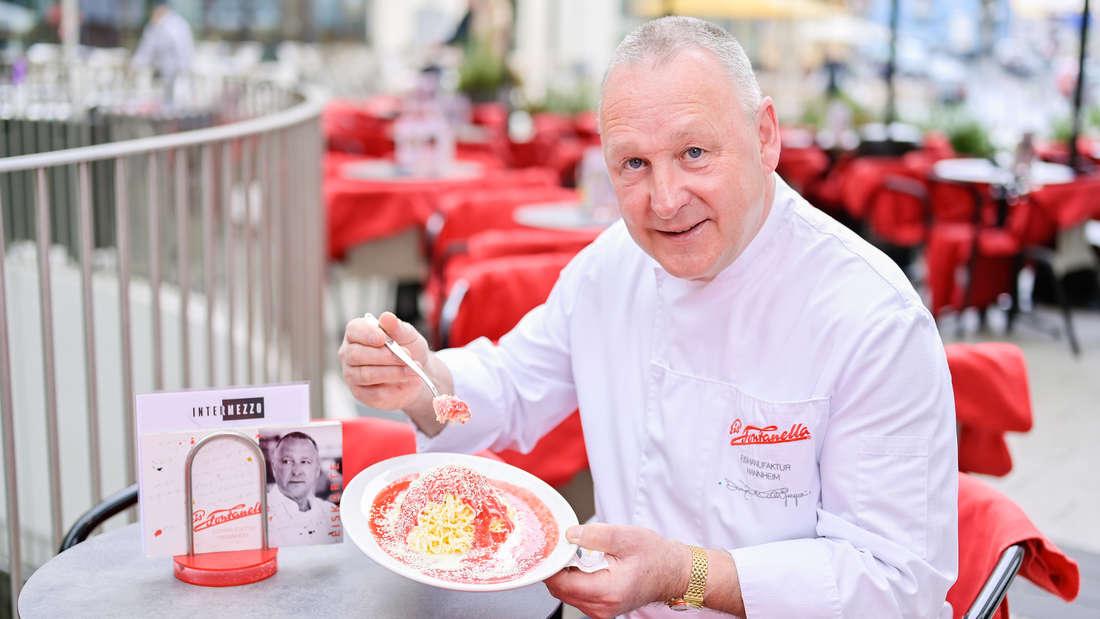 Dario Fontanella hat das Spaghetti-Eis in Mannheim erfunden.