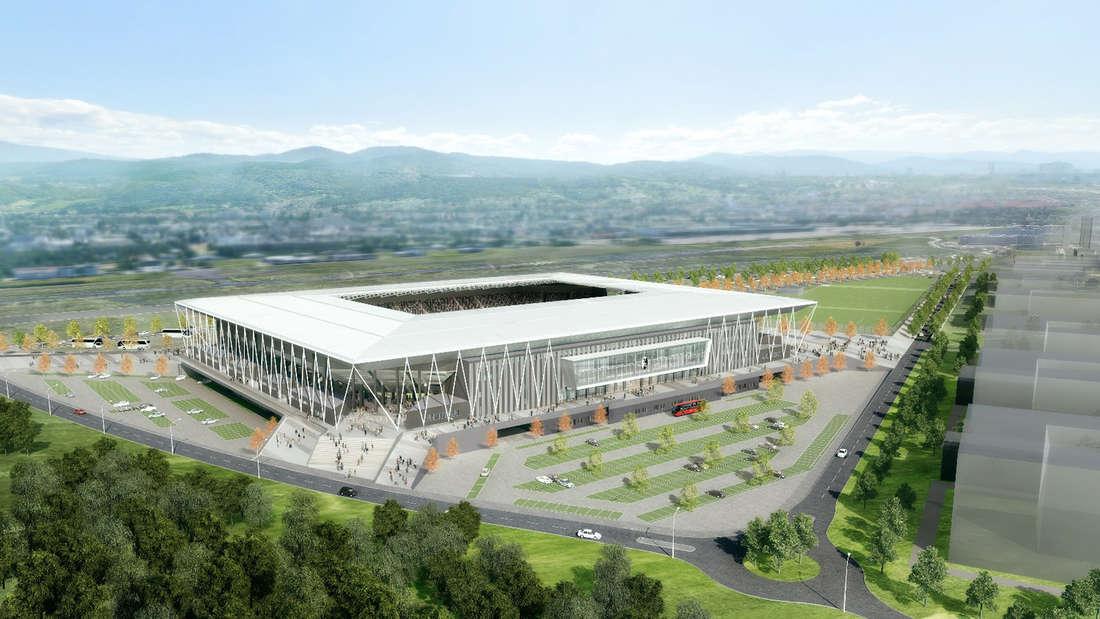 So soll das neue Stadion des SC Freiburg aussehen.