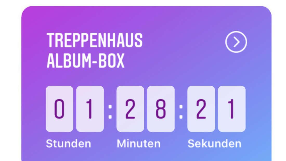 """Countdown zum Verkauf für das Debütalbum""""Treppenahus"""" von Apache 207."""