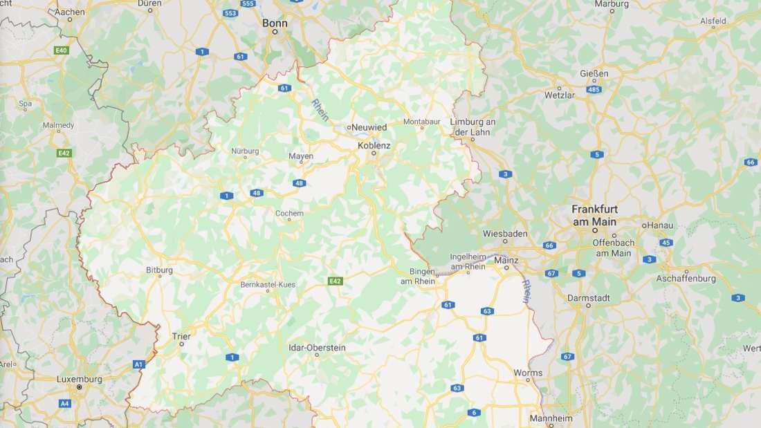 Karte von Rheinland-Pfalz