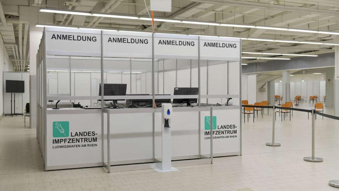 Das Landesimpfzentrum in der Walzmühle in Ludwigshafen ist betriebsbereit.