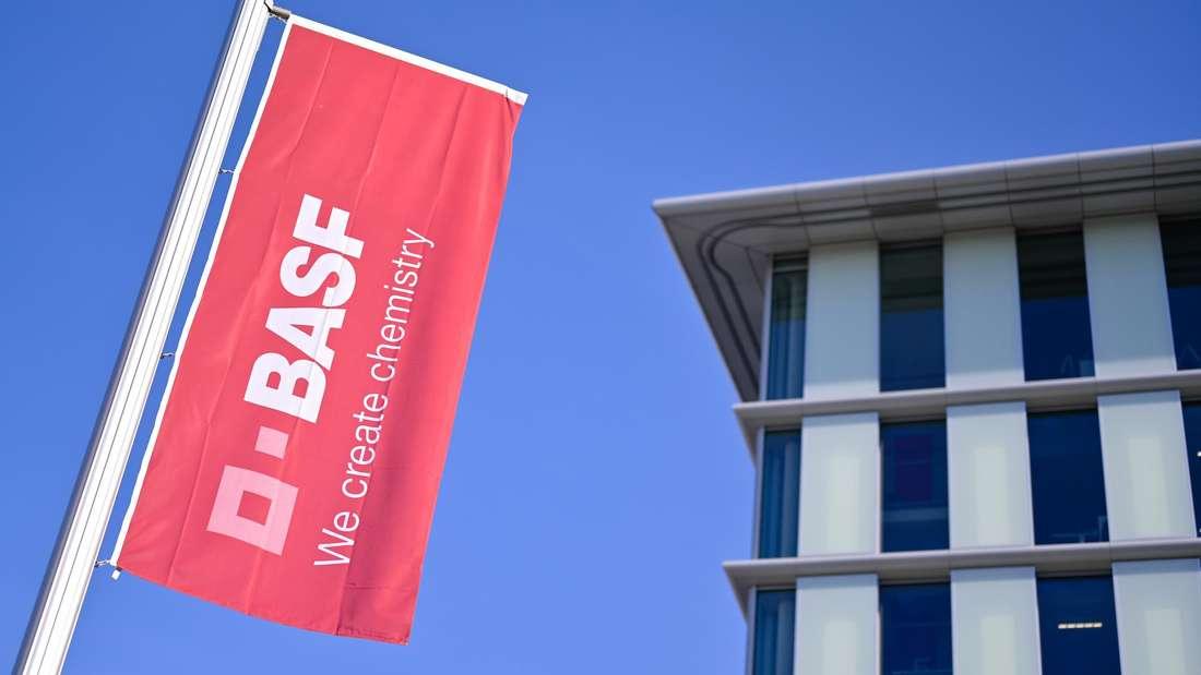 Die BASF in Ludwigshafen
