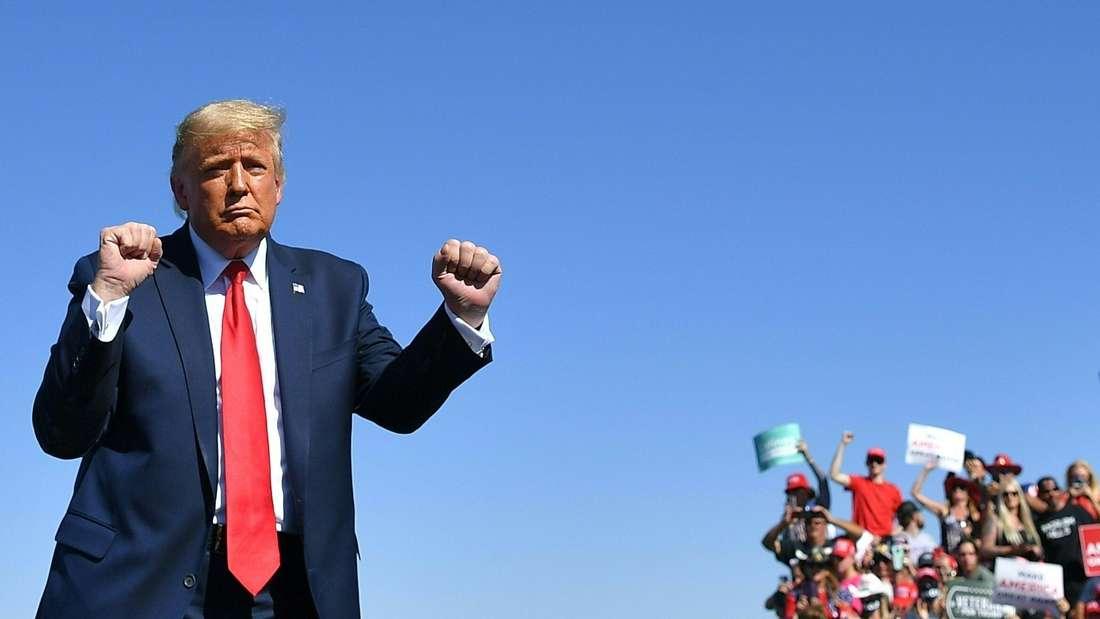 Donald Trump bei einer Wahlkampfveranstaltung in Prescott in Arizona im Oktober 2020.