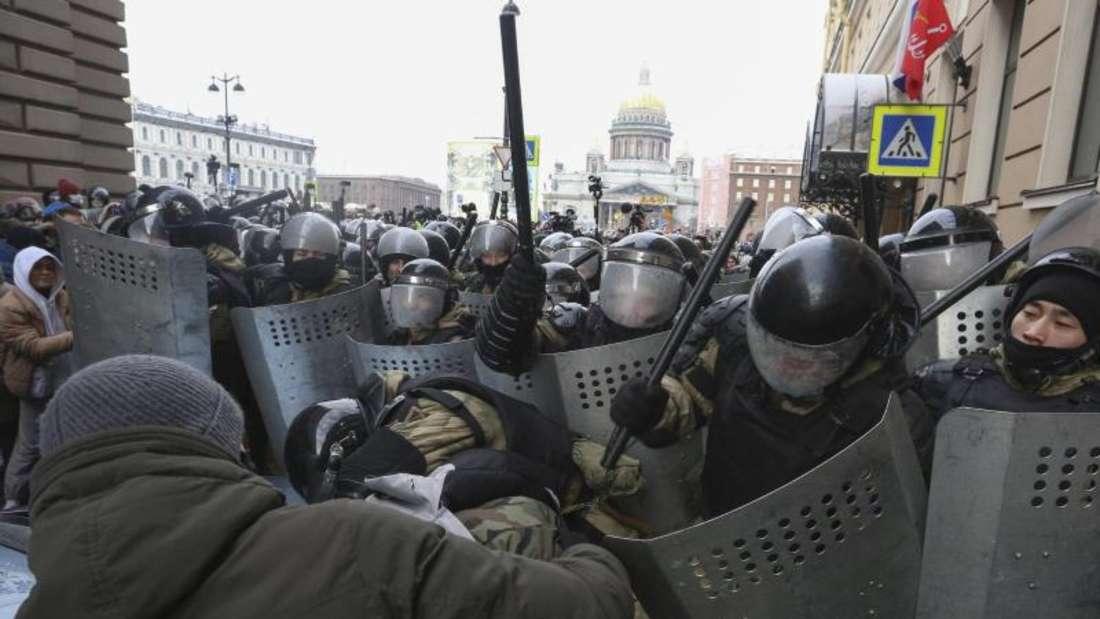 Proteste in St. Petersburg