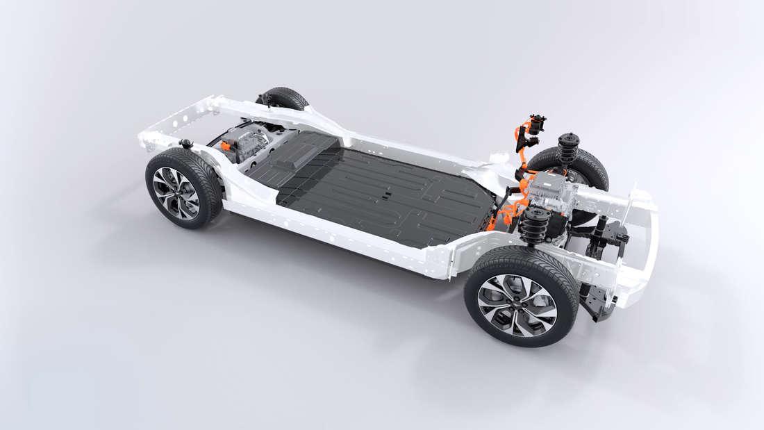 Ford Mustang Mach-E Querschnitt Technik Batterie Akku