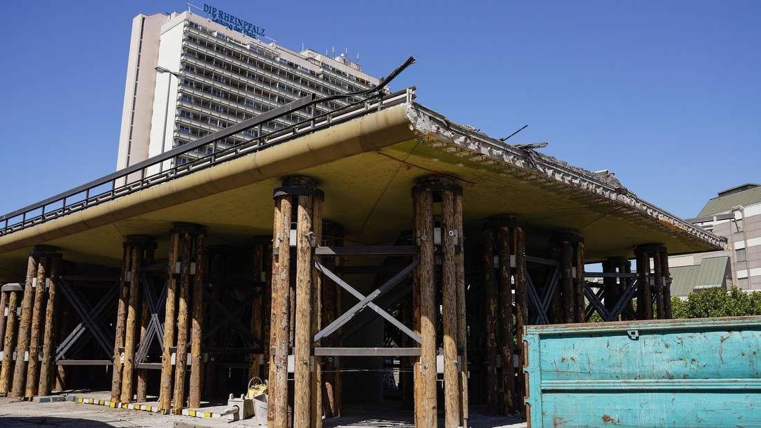 Der Abriss der Hochstraße Süd in Ludwigshafen im Sommer 2020.