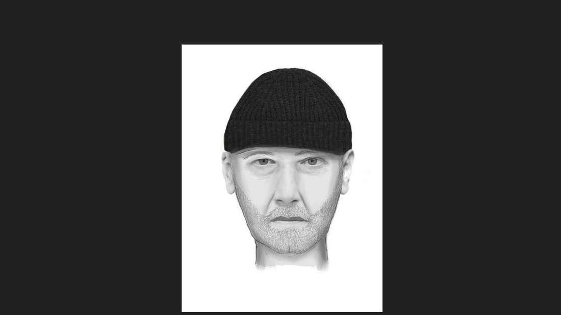 Phantombild eines Täters nach sexuellem Übergriff auf 13-jähriges Mädchen in Ludwigshafen.