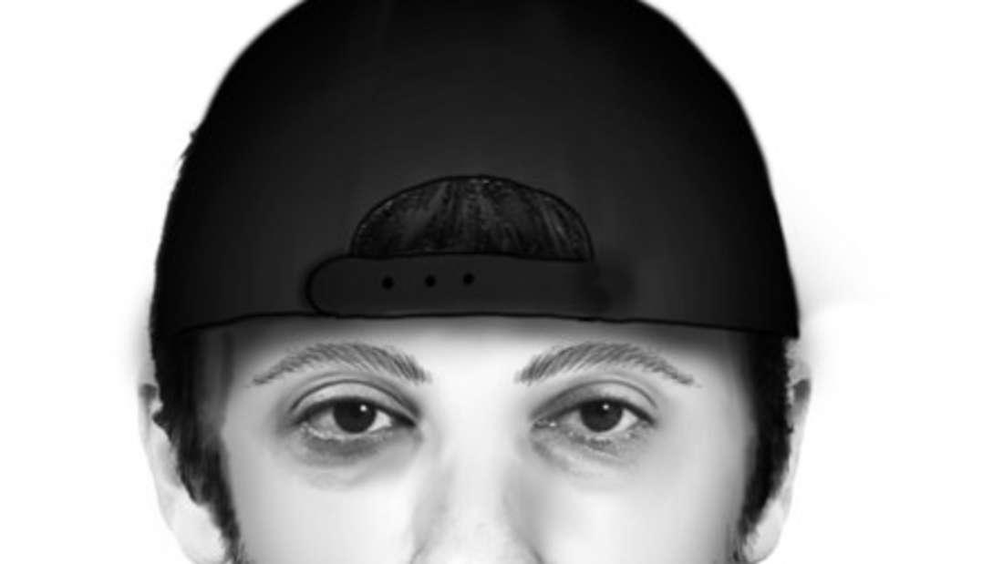 Polizei Ludwigshafen sucht mit einem Phantombild nach dem Täter.