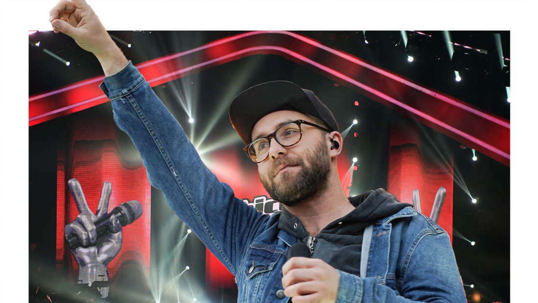 "Mark Forster vor der ""The Voice""-Bühne (Fotomontage)"